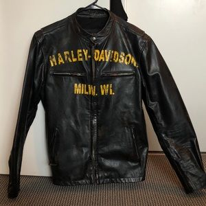 Men's Harley Davidson Leather Jacket - NEVER WORN